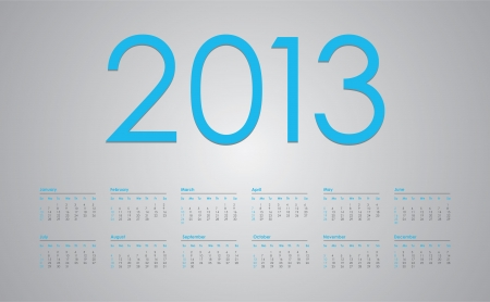 2013 year calendar Stock Vector - 15333931