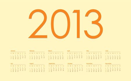 2013 year calendar Stock Vector - 15527402