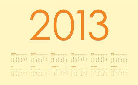 2013 year calendar Stock Vector - 15527402