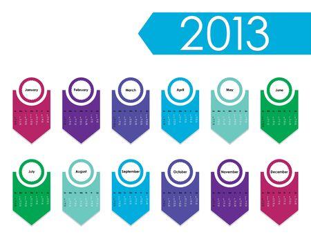 2013 year calendar Stock Vector - 15527403