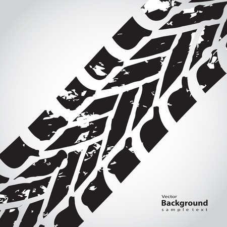 tire track background Stock Vector - 15527396