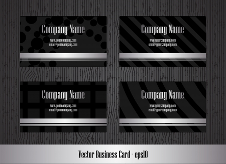 creative beauty: Vector business card set with special metallic design Illustration