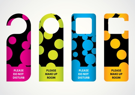 hotel do not disturb door hanger with special dotted design Vector