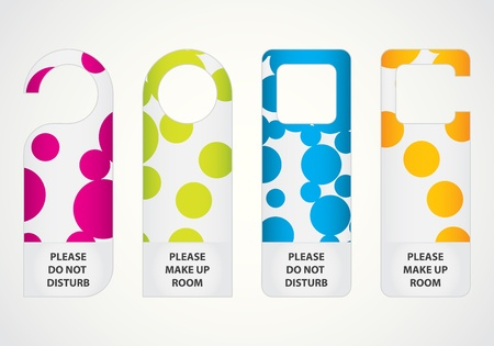 do not disturb sign: hotel do not disturb door hanger with special dotted design