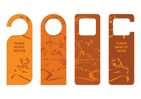 door hangers with special vintage design Vector