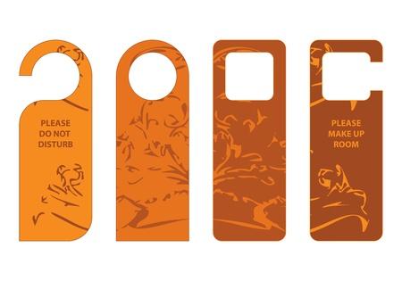 door hangers with special vintage design Ilustracja