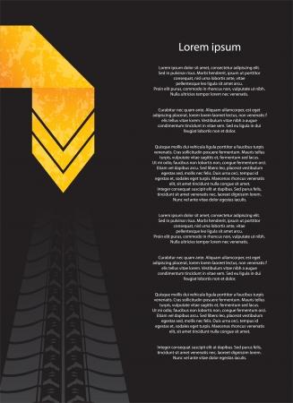 car tire: speciale flyer met het ontwerp van banden