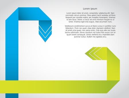 kunden service: Hintergrund mit speziellen origami Pfeile Illustration
