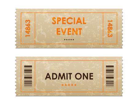 movie ticket: entrance tickets Illustration