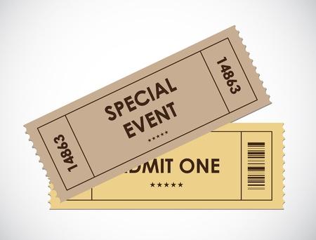 movie ticket: special old entrance tickets Illustration