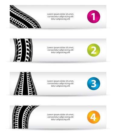 car ornament: banners with special tire design