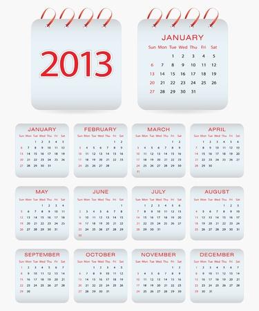 calendar 2013 Stock Vector - 15730586
