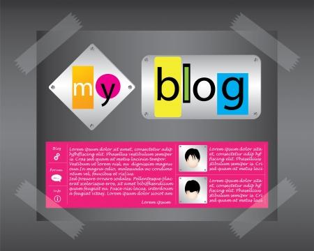 special website template Illustration