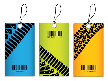 price tags with tire design Vector