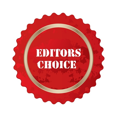 editors choice special sign  Vector