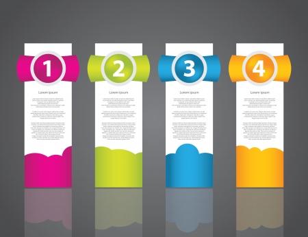 ensemble d'étiquettes d'échantillons de couleurs pour les différentes options