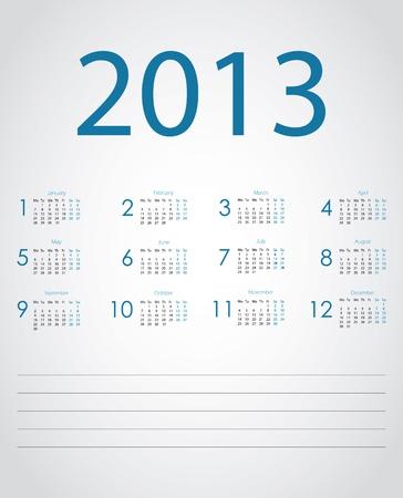 Vector calendar 2013 Stock Vector - 15991160