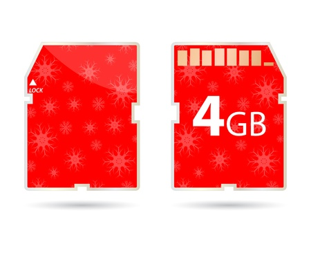 SD card with christmas design Vector