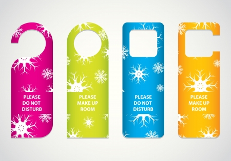 hotel do not disturb door hanger with Christmas design Vector