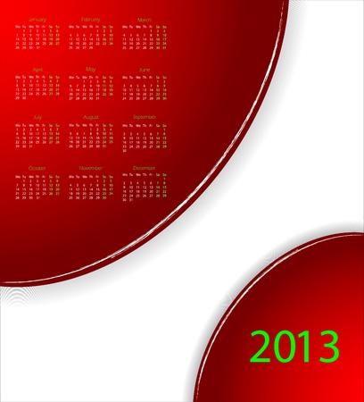 calendar 2013 Stock Vector - 16146382
