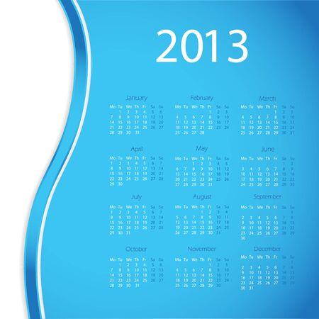 2013 year calendar Stock Vector - 16146380