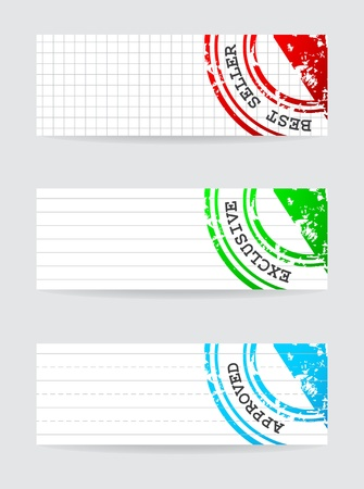 rubber stamp with special design Vector