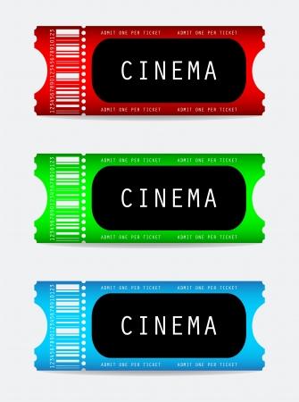 receipts: movie ticket Illustration