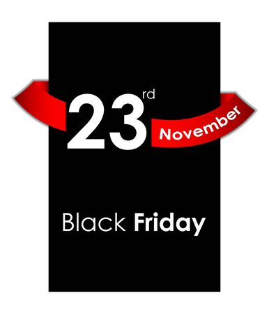 black friday sale tag design Illustration