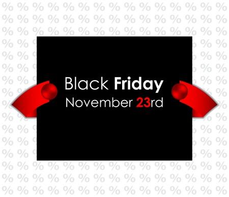 black friday: trendy black friday banner Illustration