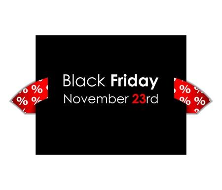 black friday: special black friday banner  Illustration