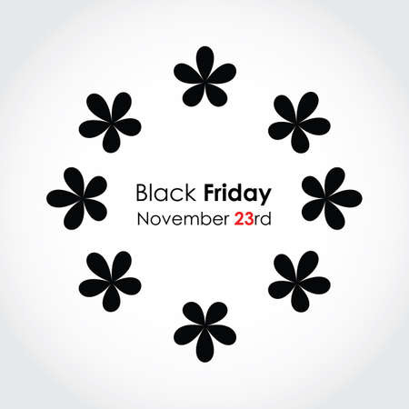 special black friday background with floral design Stock Vector - 16317716
