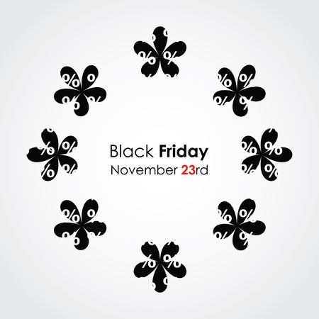 special black friday background with floral design Stock Vector - 16317719