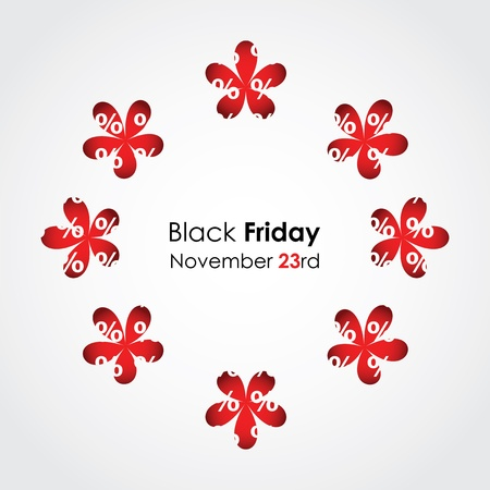 special black friday background with floral design Stock Vector - 16317720