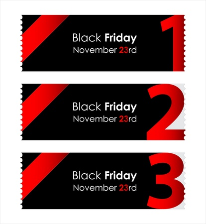 special red paper tickets with black friday text Vector