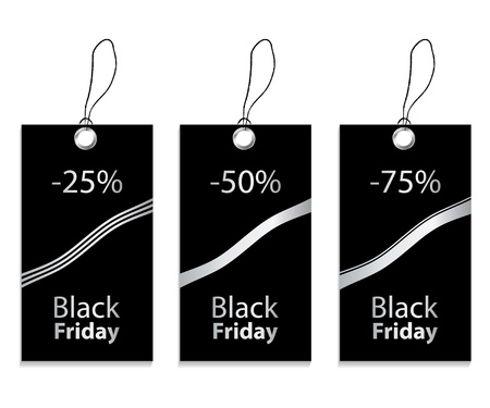 friday: paper price tag for black friday Illustration