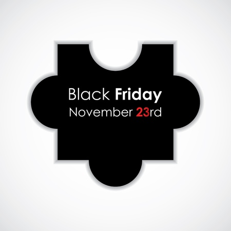 special puzzle vector illustration with black friday text Stock Vector - 16317711