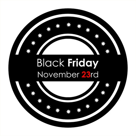 special stamp with Black Friday text Vector