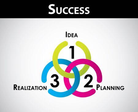 factors: Success concept - special business background for your website Illustration