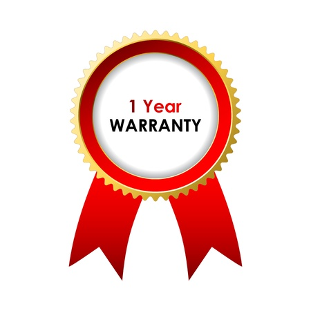 seal of approval: 1 year warranty label with special design