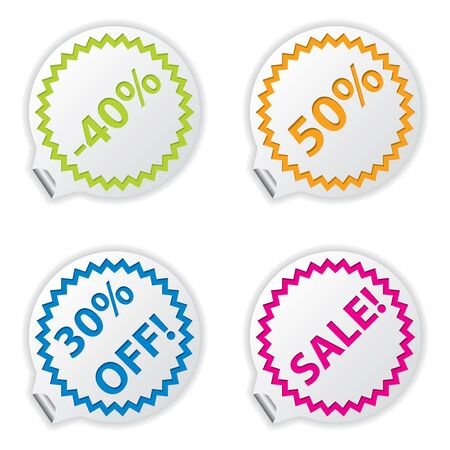 Sale or discount tags for price list Stock Vector - 16754108