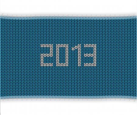 knitted background: especial de punto azul de fondo 2013