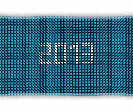 knitted background: special blue knitted background 2013 Illustration