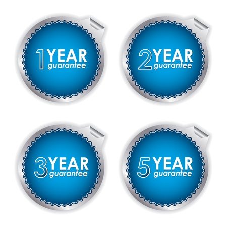 special blue guarantee labels on white background Stock Vector - 16823056