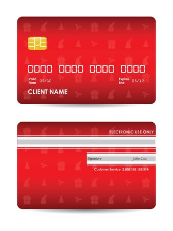 credit card with Christmas design Vector