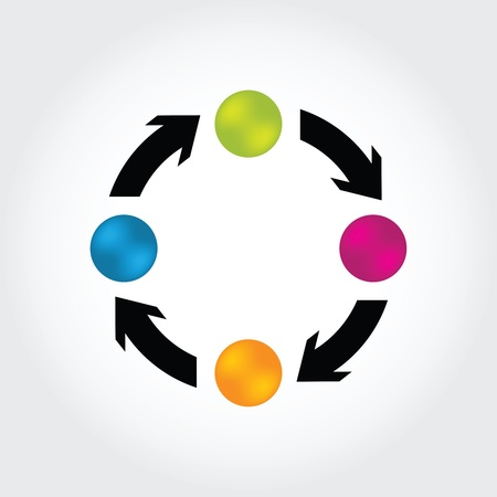 arrow circle: special business background with arrows and buttons Illustration