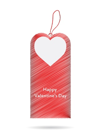 illustration of price tag with Valentine Vector