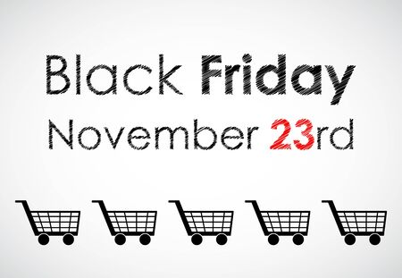 special black friday banner for your website Stock Vector - 17345402