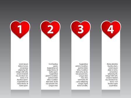 valentin: Advertising label set with valentin