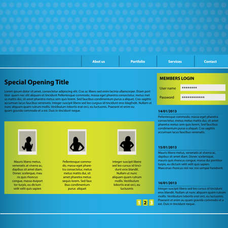 website design template with special design Vector