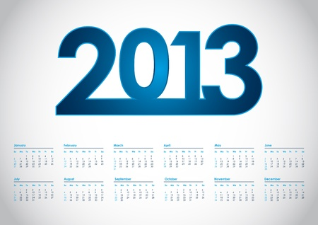 event planner: 2013 year vector calendar with special design Illustration